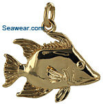 14kt gold hogfish necklace pendant or bracelet charm