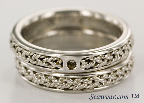 Turks Head solitaire engagement ring