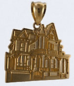 Dr Henry Hunt House of Cape May done in 14kt gold pendant