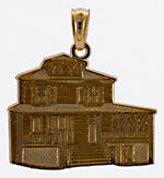 The Manse Bed and Breakfast Inn of Cape May pendant in detailed 14kt