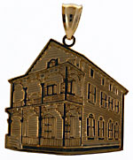 The Pink House of Cape May pendant