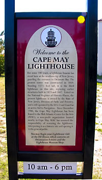 welcome to cape may lighthouse