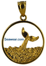 diving whale jewelry necklace pendant