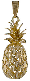 large filigree hospitality pineapple jewelry