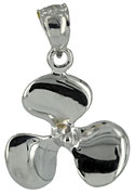 white gold three blade propeller necklace charm